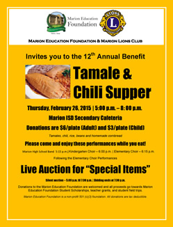 Marion Education Foundation Tamale and Chili Supper